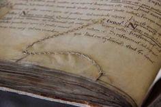 Medieval Book - vellum page repair.  Leiden, Universiteitsbibliotheek, BPL 25 (9th century)