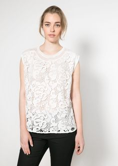 Blusa frontal crochet