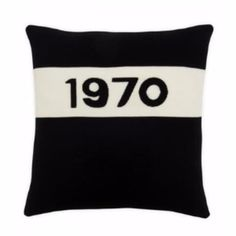 In a room full of bright colours, darker tones can be mixed through bold accessories such as this 1970 cushion Sophie Robinson, Aw 2017, Roller Blinds, Cushions, Cover, Bright Colours, Black, Design, Bed