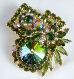 Here's another awesome piece that I loved and sold - Juliana Tiered Watermelon Rivoli Brooch