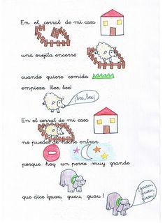 "Educación Infantil: UNIDAD 6 ""LA FAMILIA DE LOS ANIMALES"" Spanish Songs, Spanish 1, Dual Language, Spanish Language, Finger Plays, Spanish Vocabulary, Farm Theme, Circle Time, Yoga For Kids"