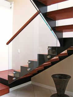 Steel Glass Timber Staircase