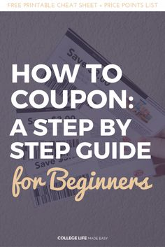 How to Coupon for Beginners Couponing in College At Walmart, at Target, at Rite Aid, at Walgreens, at CVS Couponing for Beginners How to Coupon Tutorials How to Get Free Stuff Ways to Get Free Stuff Step by Step Couponing Guide Learing to How To Start Couponing, Couponing For Beginners, Couponing 101, Extreme Couponing, Save Money On Groceries, Ways To Save Money, Money Tips, Money Saving Tips, Saving Ideas