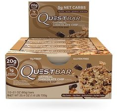 Decadent chocolate chunks, chewy bits of oatmeal, and 20g of protein transform the oatmeal cookies of your cheat day fantasies into an every-day protein-packed reality!