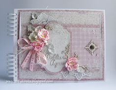 Dorota_mk: Vintage Baby Baby Girl Scrapbook, Mini Scrapbook Albums, Baby Mini Album, Minis, Sewing Case, Pot A Crayon, Mixed Media Cards, Shabby Chic Cards, Vintage Crafts