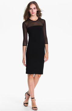 KAMALIKULTURE Sheer Yoke Sheath Dress | Nordstrom