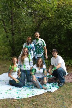 Gender reveal family paint fight!!