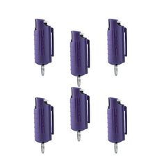 Mace Purple Hard Case Twist and Lock Purple Keychain Pepper Spray - Lot of 6 - Great Stocking Stuffers - FREE Shipping $59.99