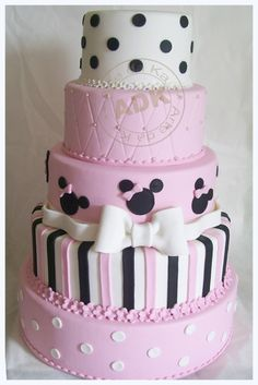 Birthday cake(not the Minnie tier and only 4 tiers)