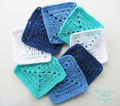Maria's Blue Crayon: Ocean Themed Granny Square Afghan Series