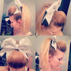 Astonishing Cheer Bows And Cheer Hair On Pinterest Short Hairstyles For Black Women Fulllsitofus