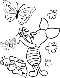 Popular Character Free Coloring Activity: Winnie the Pooh: Piglet ...