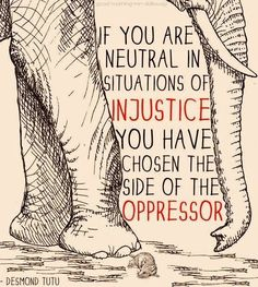 Neutrality = Oppression