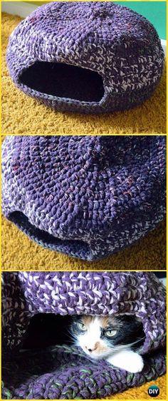 Repeat Crochet Me: Crochet Pixie Cat Cave Free Pattern