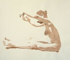 Marzia Reaching by Wendy Artin, 2010, watercolor.