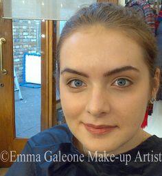Nude make-up look.