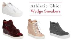Wedge sneakers are always on trend