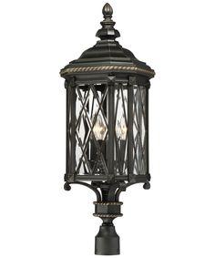 Minka-Lavery Bexley Manor 4 Light 33 inch Black/Gold Highlights Outdoor Post Mount Lantern The Great Outdoors Outdoor Post Lights, Outdoor Lighting, Outdoor Lantern, Pathway Lighting, Lighting Ideas, Lantern Post, Light In, Traditional Lighting, Traditional Design