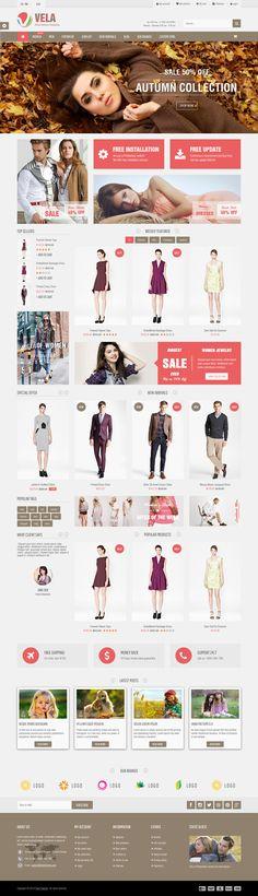 Vela is Premium full Responsive PrestaShop eCommerce Theme. Website Layout, Website Themes, Website Ideas, Fashion Web Design, Design Web, Amazing Website Designs, Online Store Builder, Ui Web, Wordpress Template