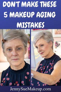 Makeup over 40 tips Makeup Tips Over 40, Under Eye Makeup, Makeup Tips For Older Women, Hooded Eye Makeup, Bronzer Application, Foundation Application, Flawless Foundation, Makeup Mistakes, Concealer For Dark Circles