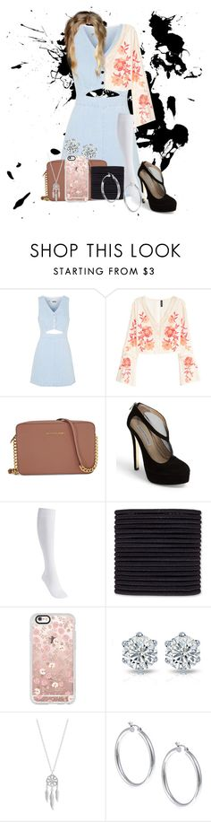 """Untitled #610"" by dancer-sos on Polyvore featuring Topshop, H&M, Michael Kors, Kristin Cavallari, Falke, scunci, Casetify, Lucky Brand and Sterling Essentials"