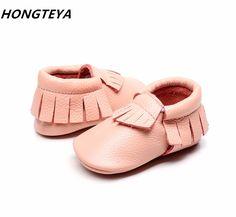d8d61dd8a60ee New Genuine Leather baby shoes kids Moccasins Soft sole fringe 30 color  Infant Newborn girl boy
