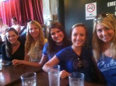 Shannon, Beth, Meghan, Emily, and Katie enjoy the Walker Sands Wrigley outing