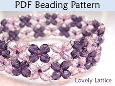 Lovely Lattice Bracelet PDF Beading Pattern