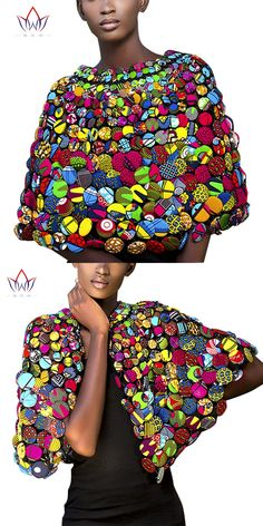 BRW 2017 African Ankara Print Colorful Buttons Necklace Buttons Shawl African Ankara Necklace Handmade Tribal Jewelry WYX07