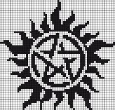 Supernatural Perler Bead Pattern