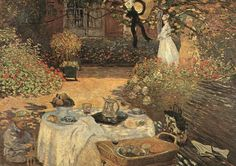 "Claude Monet ""Breakfast"" / $144 - $624 incl.20% VAT and Shipping / Click http://mondialart.co.uk/product/breakfast/ #art #painting #mondialart #replica"