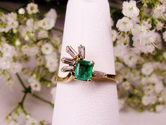 Make An Offer Sale Genuine Emerald Cut by LadyRoseVintageJewel, $689.99