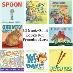 50 Must-Read Books For Preschoolers via @natlubrano on @Untrained Housewife