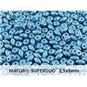 SuperDuo Opaque Metallic Mat Green Turquoise - 10g