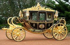 The State Coach Britannia (also known as the Diamond Jubilee State Coach) is an enclosed, six horse-drawn carriage that was made to commemorate Queen Elizabeth II's birthday. Wedding Carriage, Wedding Transportation, The Time Machine, Horse Carriage, Carriage Bed, Horse Drawn, British History, Elizabeth Ii, Antique Cars