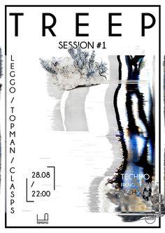 Gig poster by Ukraine-based designer and musician Anton Sinitsa