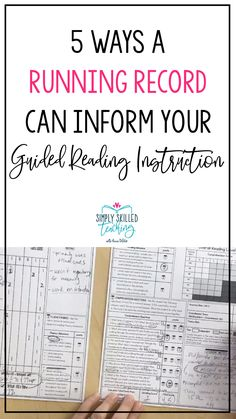 5 Ways a Running Record Informs Guided Reading Instruction - Simply Skilled Teaching Guided Reading Lessons, Reading Help, Guided Reading Groups, Student Reading, Reading Resources, Teaching Reading, Guided Reading Activities, Reading Logs, Teaching Career