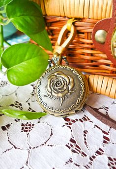 Retro Rose Pocket Watch Pendant Necklace - Accessory - Retro, Indie and Unique Fashion