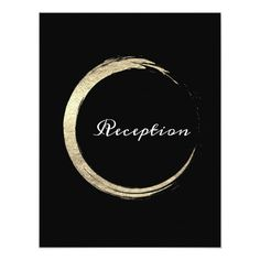 Black White Minimalism Gold Elegant Reception Card Custom order #gold #wedding #invitations Make your day special with these #Elegant #golden #weddinginvitations ideal for wedding #party #cards and #simple #weddingstationary