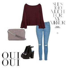 """""""Women's outfit on spring or autumn"""" by gabriela-przystal on Polyvore featuring moda, Topshop, MANGO, MICHAEL Michael Kors, Rika, Oui, outfit i autumnoutfit"""