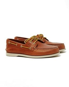The Sperry A/O 2-Eye Boat Shoe in Tan available at The Idle Man #StyleMadeEasy