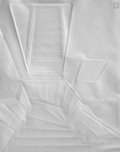 Artist Folds Creases On Paper To Form Architectural 'Drawings' - DesignTAXI.com