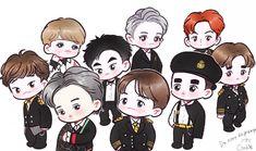 Exo do, exo chen, suho exo Exo Cartoon, Cartoon Fan, Kpop Exo, Suho Exo, Exo Chen, Chibi, Anime Korea, Exo Anime, Fairy Tail Pictures