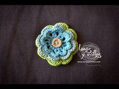 Tutorial Flor Crochet Paso A Paso en Español