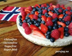 Sugarfree, glutenfree, vegan  delicious cheesecake. Foods For Anxiety, Raspberry, Strawberry, Lactose Free, Egg Free, Superfoods, Glutenfree, Sugar Free, Cheesecake