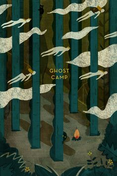 Monster Edition - Mike Ellis - Illustration: ghost camp - beautiful and spooky Inspiration Art, Art Inspo, Thats The Spirit Bmth, Book Cover Design, Book Design, Character Design Challenge, Male Character, Expo, Grafik Design