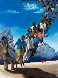 African American spiritual art by grwaller This is truly a beautiful piece of art work. African American Artwork, African Art, American Artists, Caricatures, Arte Hip Hop, Black Jesus, Black Art Pictures, Black Love Art, Art Africain