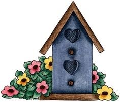 Bird House and Flower-770619