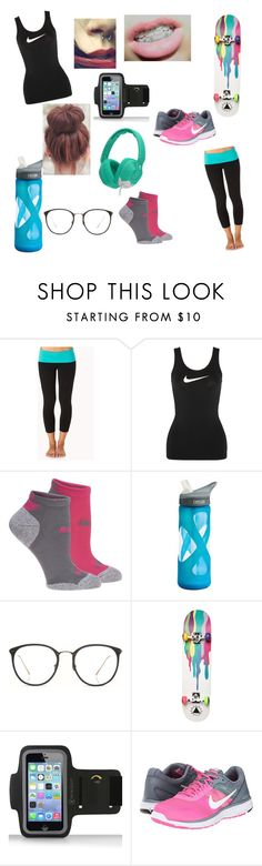 """""""Fitness day"""" by leah-molyneux ❤ liked on Polyvore featuring Forever 21, NIKE, Puma, CamelBak, Skullcandy, Linda Farrow and Ernesto Esposito"""