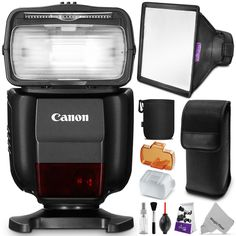 Canon Speedlite 430EX III-RT Flash for Canon DSLR Cameras w/ Essential Bundle - Includes: Flash Diffuser, Cleaning Set